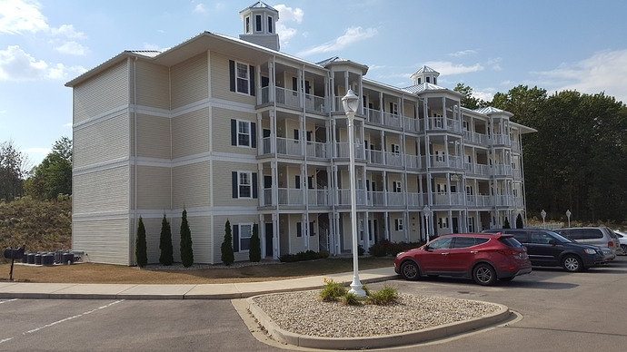 4 Story Vinyl Siding With Balconies Commercial