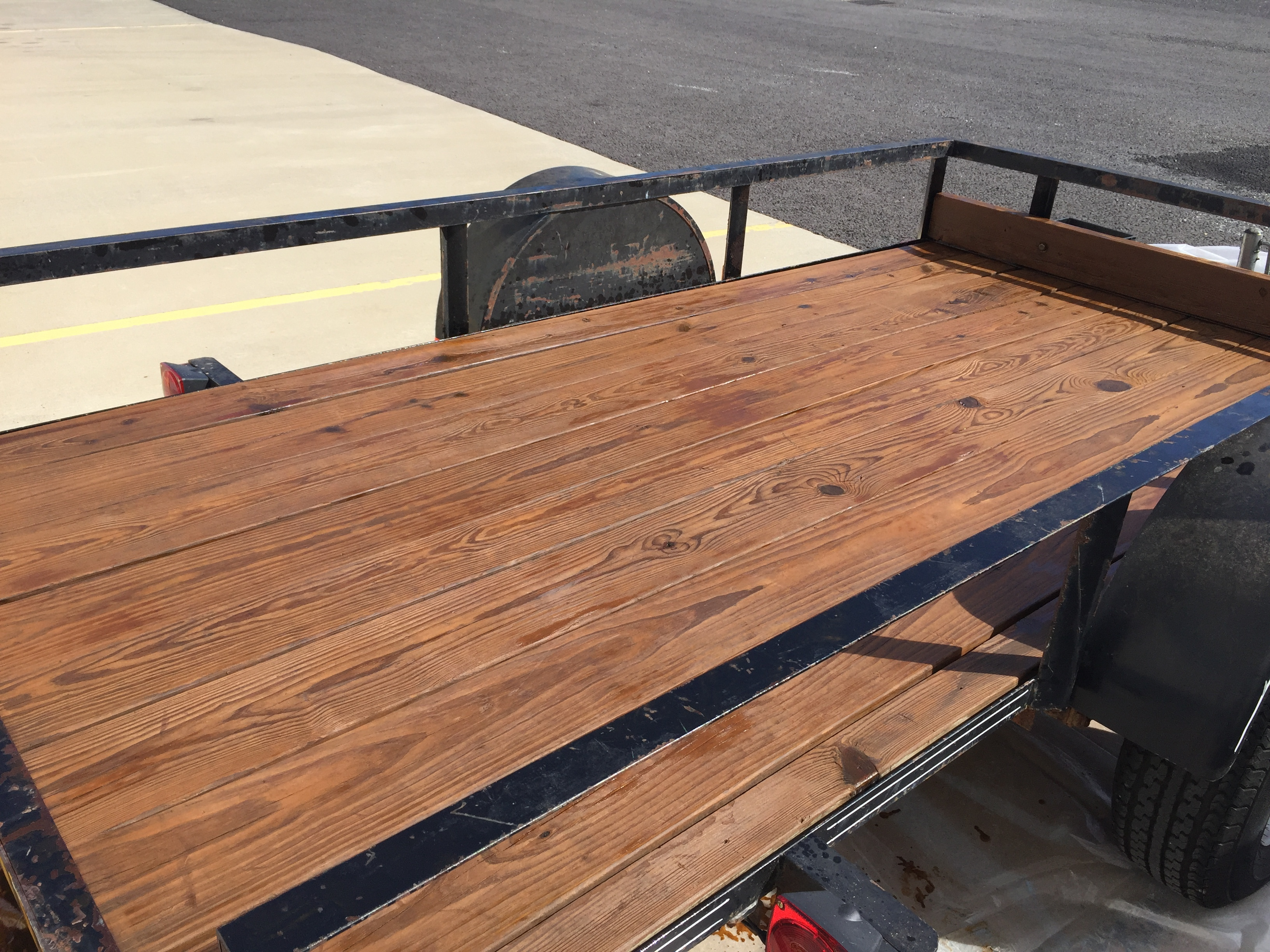 New boards on trailer: stain, paint, or something better