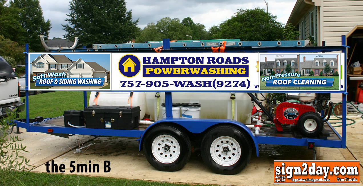 Trailer Signs Residential Pressure Washing Resource